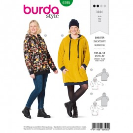 Plus size Sweatshirt Sewing pattern Burda N°6195