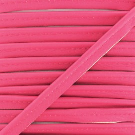 Faux Leather Piping - Fuchsia Leka x 1m