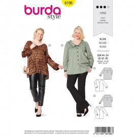 Patron Blouse empiècement à l'arrière Femme Grande taille–  Burda N°6198