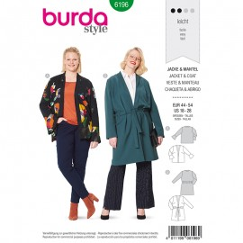 Plus size jacket Sewing Pattern Burda N°6196