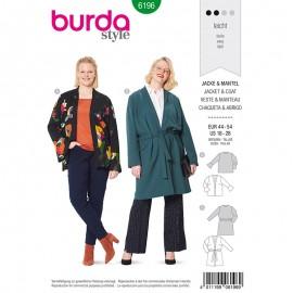 Plus size jacket Sewing Pattern Burda N°6196