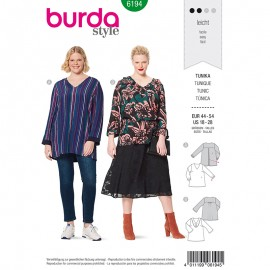 Plus size tunic Sewing Pattern Burda N°6194