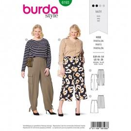 Plus size pants Sewing Pattern - Burda Style n°6193