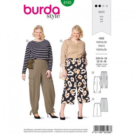 Patron pantalon à coulisse élastiquée Femme Grande taille - Burda n°6193
