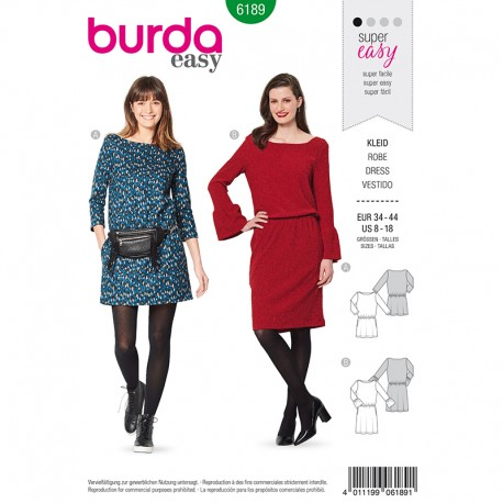 Patron Robe casual Femme - Burda n°6189