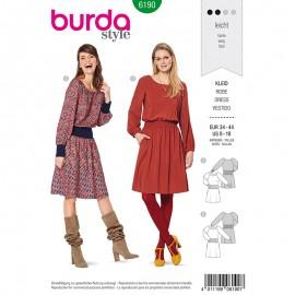 Patron Robe à smocks Femme - Burda n°6190