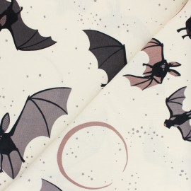Alexander Henry cotton fabric - raw Bellatrix the Bat x 10 cm