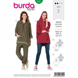 Sweatshirt Sewing pattern - Burda N°6191