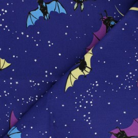 Alexander Henry cotton fabric - purple Bellatrix the Bat x 10 cm