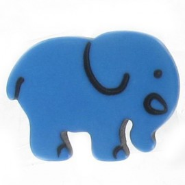 Button, Elephant - blue
