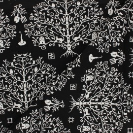 Maywood Studio cotton fabric - Paper Cut Tree Spellcaster's Garden x 10 cm