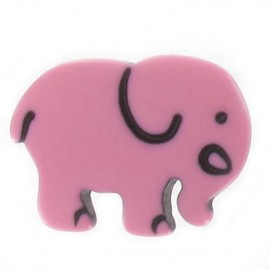 Button, Elephant - pink