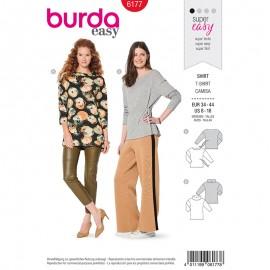 Patron T-shirt épaules débordantes Femme –  Burda N°6177