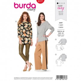 T-shirt Sewing Pattern  Burda N°6171