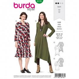 Patron Robe évasée Femme - Burda n°6176