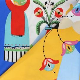 Tissu coton Alexander Henry - Frida Carita - bleu x 60cm