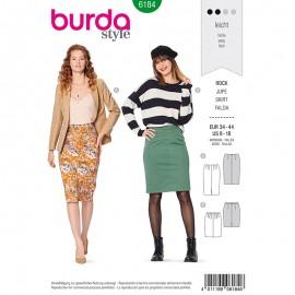Patron Jupe crayon fendue Femme - Burda n°6184