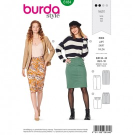 Skirt Sewing Pattern for Woman - Burda n°6184
