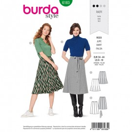 Skirt Sewing Pattern for Woman - Burda n°6183