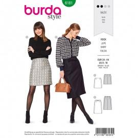 Patron Jupe droite Femme - Burda n°6181