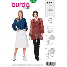 Patron Blouse manches à raglan Femme –  Burda N°6187