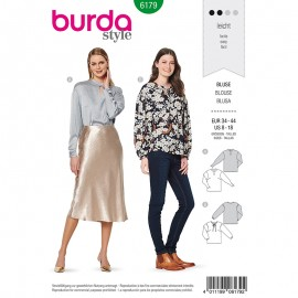 Blouse Sewing Pattern  Burda N°6179
