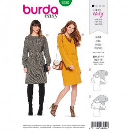 Dress Sewing Pattern for Woman - Burda n°6180
