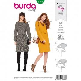 Patron robe pull Femme - Burda n°6180