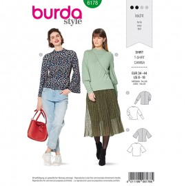 Bishop t-shirt Sewing Pattern - Burda N°6178