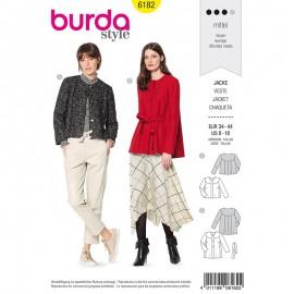Patron Veste classique col rond Femme - Burda n°6182