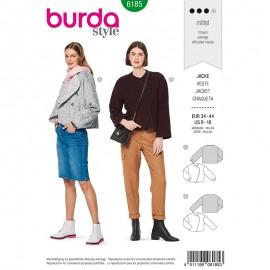 Patron Veste boutonnage latéral Femme - Burda n°6185
