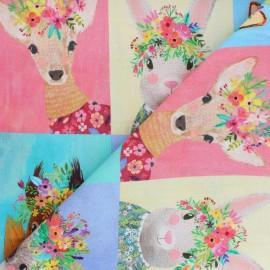 Blend Fabrics Cotton Fabric - Forest Friends Portraits x 15cm