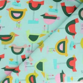 Tissu coton Alexander Henry Songbird - vert d'eau x 10cm