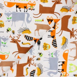Cloud 9 cotton fabric - Ed Emberley favorites - Forest Friends x 10 cm