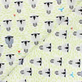 Cloud 9 cotton fabric - Ed Emberley favorites - Sheep x 10 cm