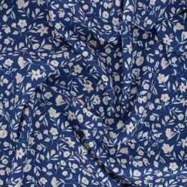 Cloud 9 rayon fabric - blue Blossom x 10 cm