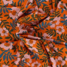 Cloud 9 rayon fabric - orange Nocturnal x 10 cm