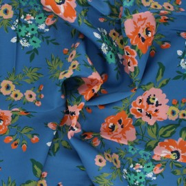 Tissu rayonne Cloud 9 Sweet Rose - bleu x 10 cm