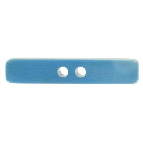 Stick-shaped button - blue