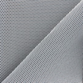 Tissu mesh 3D Bubble - blanc x 10cm