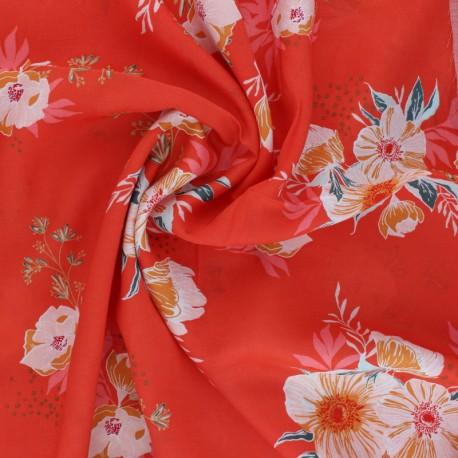 Tissu rayonne AGF Cozy & Joyful - Candied Roses x 10cm