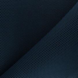 Tissu mesh 3D Bubble - bleu pétrole x 10cm