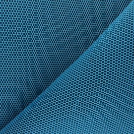 3D mesh fabric - turquoise blue Bubble x 10cm