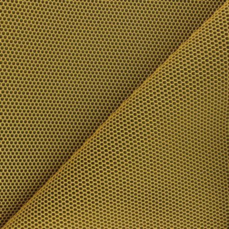 3D mesh fabric - mustard yellow Bubble x 10cm
