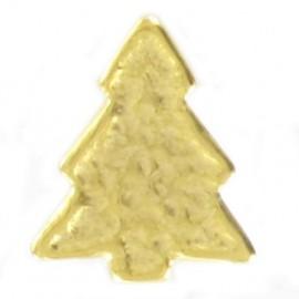 Metal aspect button, pine tree - golden