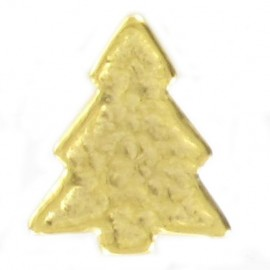 Metal button, pine tree - golden