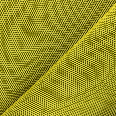 3D mesh fabric - yellow Bubble x 10cm