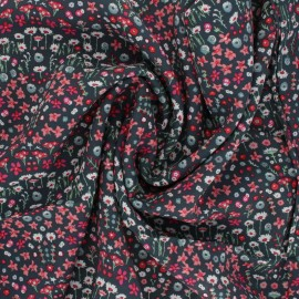 ♥ Coupon 340 cm X 135 cm ♥ AGF Rayon fabric - Picturesque - Painted Field Cerise