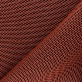 3D mesh fabric - orange Bubble x 10cm