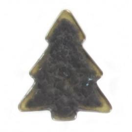 Metal aspect button, pine tree - bronze